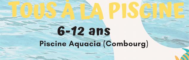 Sortie piscine le 23 mars pour les 6-12 ans