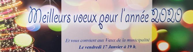Voeux de la municipalité : Vendredi 17 janvier à 19h