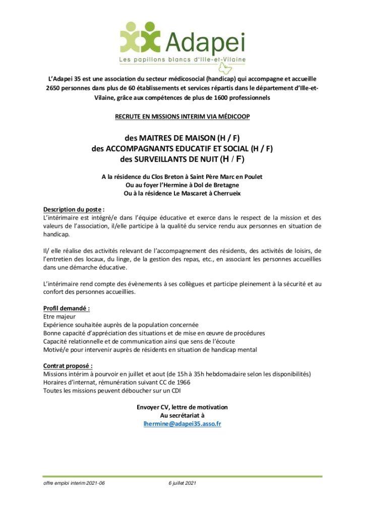 Calendrier Mascaret 2022 Offre d'emploi en mission intérim   Bienvenue sur le site inter